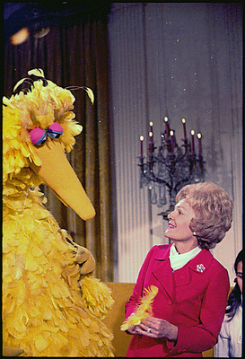 Big bird at white house 1970