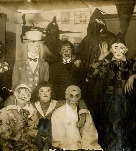 A - vintage halloween masks