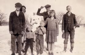 1940s vintage snowman