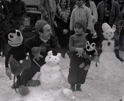 Walt Disney and snow Mickey